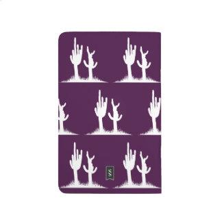 Cactus White Dark purple Journals
