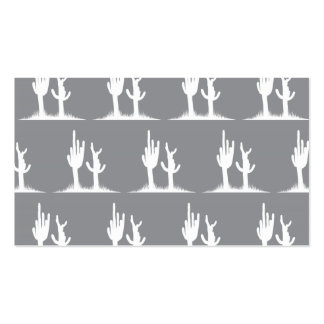 Cactus White Grey Double-Sided Standard Business Cards (Pack Of 100)