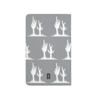 Cactus White Grey Journal