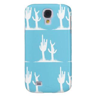 Cactus White Light Blue Samsung S4 Case