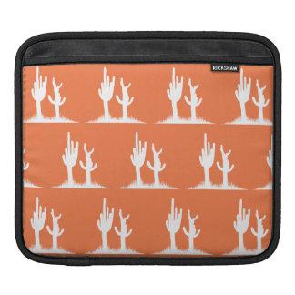 Cactus White Orange iPad Sleeves