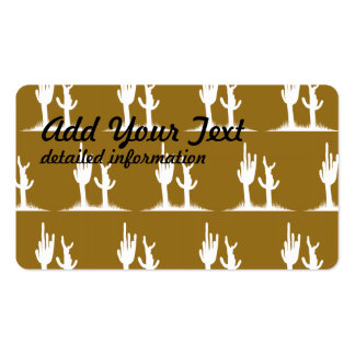 Cactus White Tan Double-Sided Standard Business Cards (Pack Of 100)