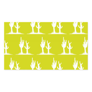 Cactus White Yellow Double-Sided Standard Business Cards (Pack Of 100)