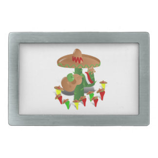 Cactus with Dancing Peppers Belt Buckles