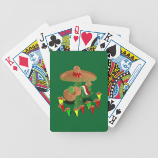 Cactus with Dancing Peppers Bicycle Playing Cards