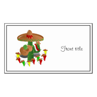 Cactus with Dancing Peppers Double-Sided Standard Business Cards (Pack Of 100)