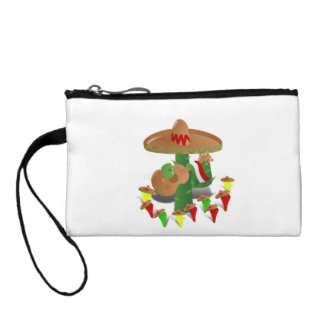 Cactus with Dancing Peppers Coin Purses