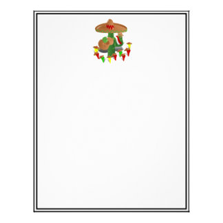 Cactus with Dancing Peppers Letterhead