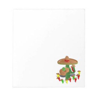 Cactus with Dancing Peppers Memo Notepad