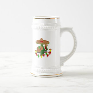 Cactus with Dancing Peppers Mug