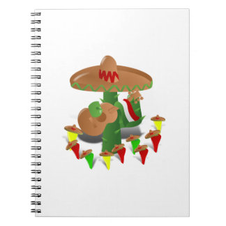Cactus with Dancing Peppers Note Books
