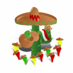 Cactus with Dancing Peppers Photo Cut Outs