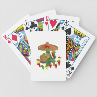 Cactus with Dancing Peppers Poker Deck