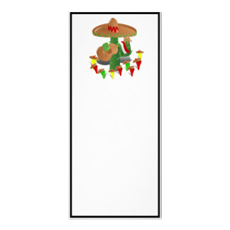 Cactus with Dancing Peppers Rack Card