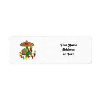 Cactus with Dancing Peppers Return Address Label