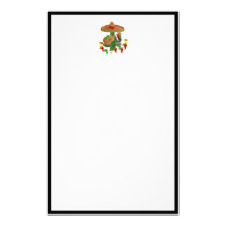 Cactus with Dancing Peppers Stationery