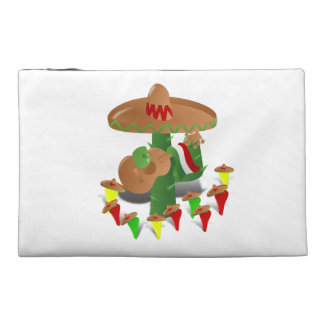 Cactus with Dancing Peppers Travel Accessory Bags