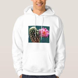 Cactus with Pink Sunlit Bloom Hoodie