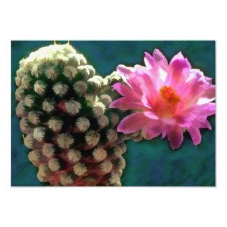 Cactus with Pink Sunlit Bloom Invite
