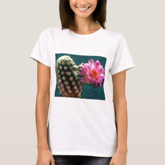 Cactus with Pink Sunlit Bloom T-Shirt