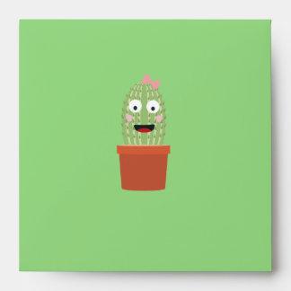 Cactus with ribbon envelope