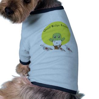 Cactus y codornices camisas de mascota