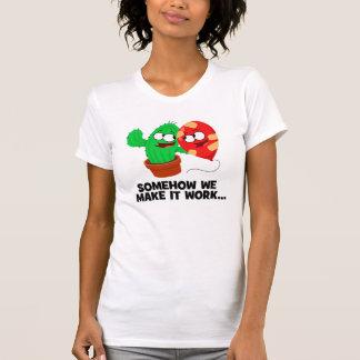 Cactus y globo camisetas
