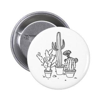 cactus y perno suculento (de la planta) pin redondo de 2 pulgadas