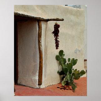Cactus y poster de los chiles/impresión póster