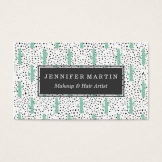 Cactus y triángulos abstractos artísticos modernos tarjeta de negocios