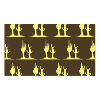 Cactus Yellow Brown Double-Sided Standard Business Cards (Pack Of 100)
