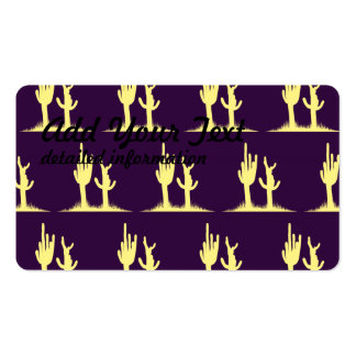 Cactus Yellow Purple Double-Sided Standard Business Cards (Pack Of 100)