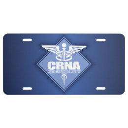 Cad CRNA (diamond) License Plate