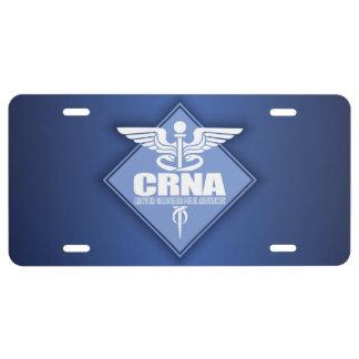 Cad CRNA (diamond) License Plate