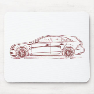 Cad CTS Wagon 2010 Mouse Pad