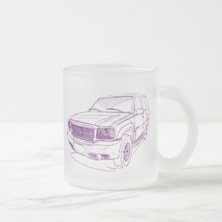 Cad Escalade gen1 1999+ Frosted Glass Coffee Mug