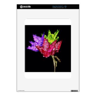 CAD flowers iPad Skins