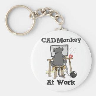 CAD Monkey At Work Keychain