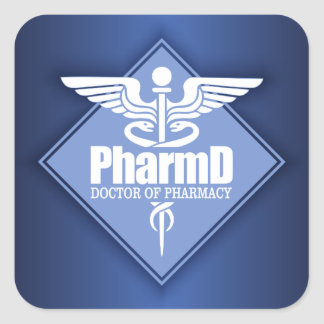 Cad PharmD (diamond) Square Sticker