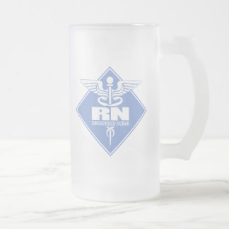 Cad RN (diamond) Frosted Glass Beer Mug