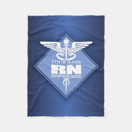 Cad RN (diamond) personalized Fleece Blanket