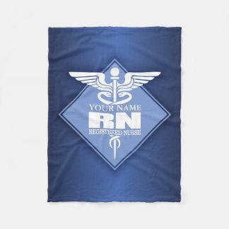 Cad RN (diamond) personalized Fleece Blanket