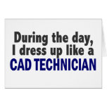 Cad Technician During The Day Greeting Cards