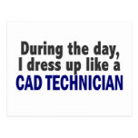 Cad Technician During The Day Postcard