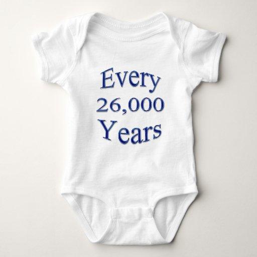 Cada 26000 años camisetas
