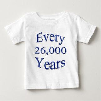 Cada 26000 años playera para bebé