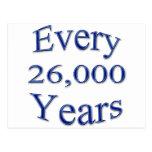 Cada 26000 años postal
