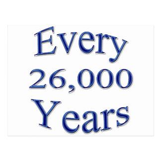 Cada 26000 años postales