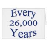 Cada 26000 años tarjetón