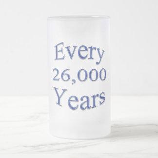 Cada 26000 años taza de cristal